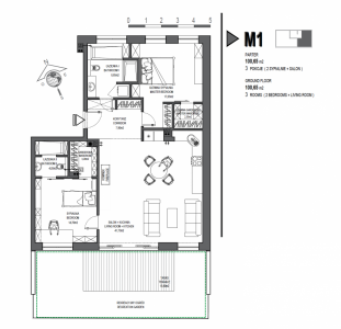 Mieszkanie nr. M1