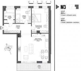 Mieszkanie nr. M3